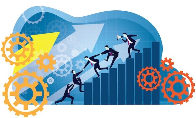 Trabalho em equipe de negócios para alcançar o sucesso juntos