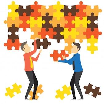 Trabalho em equipe e cooperação para negócios