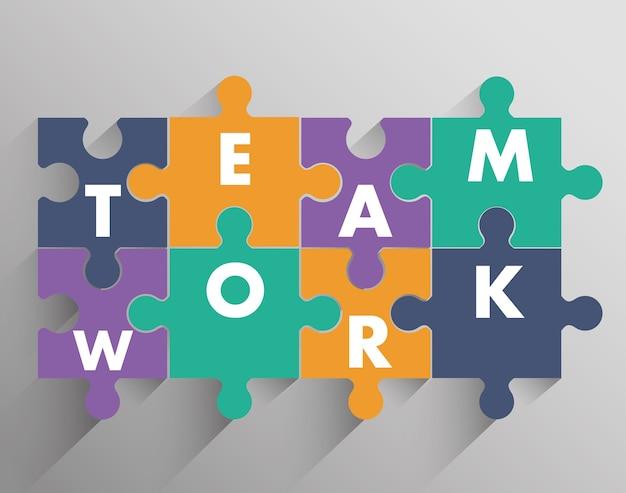 Trabalho em equipe e design de quebra-cabeça