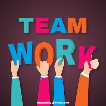 Trabalho em equipe, mãos