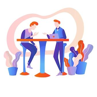 Trabalho em equipe ou discussão