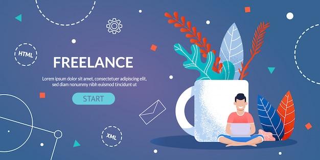 Trabalho freelancer para a página do designer e programador