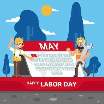 Trabalho que comemora o dia de maio américa no calendário