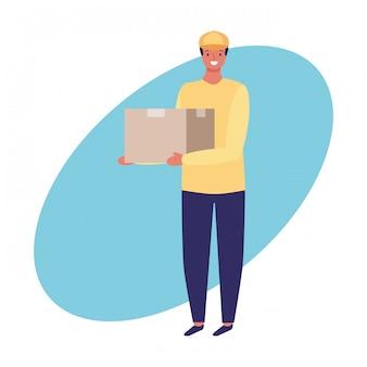 Trabalhos de correio e sorteio de mão de profissão
