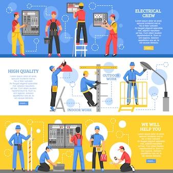 Trabalhos elétricos banners horizontais