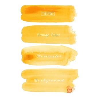 Traçado de pincel aquarela laranja
