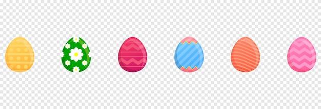 Traçado de recorte de ovos de páscoa. formato de banner