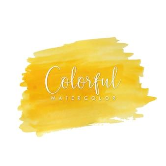Traçados de aquarela amarelos brilhantes