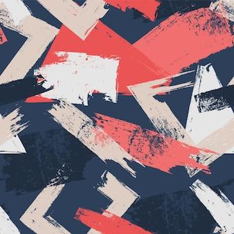 Traçados de pincel abstratos em padrões de cores diferentes