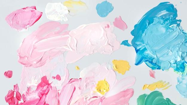 Traçados de pincel acrílico colorido