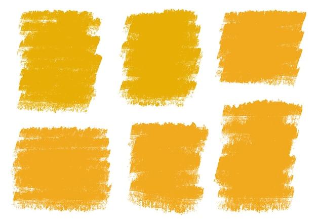 Traçados de pincel aquarela laranja abstrato