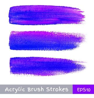 Traçados de pincel de aquarela colorida na tela, ilustração