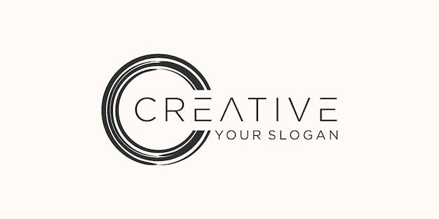 Traçados de pincel de círculo grunge para quadros, ícones, elementos de design