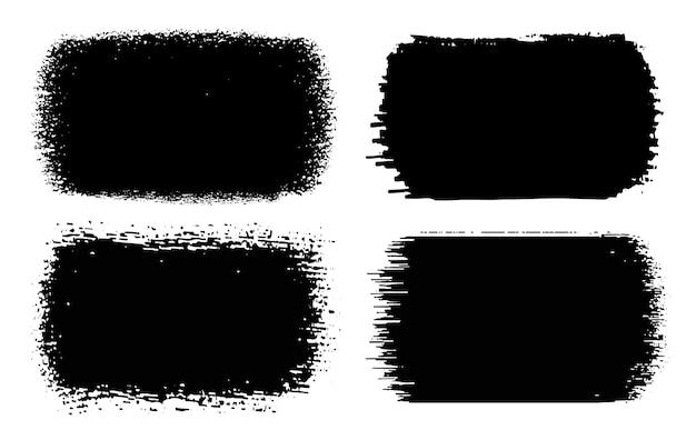 Traçados de pincel de grunge abstrato