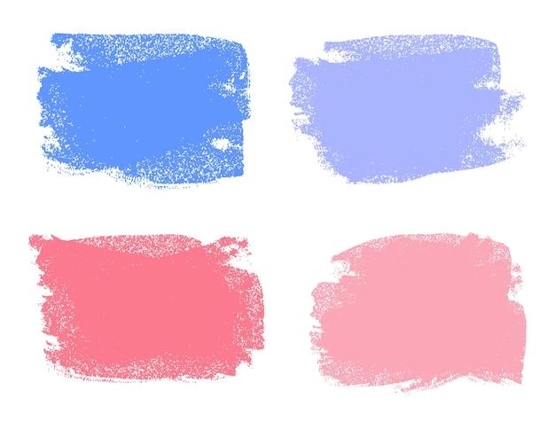 Traçados de pincel de tinta colorida