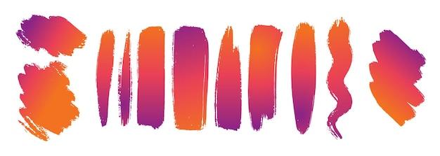 Traçados de pincel gradiente
