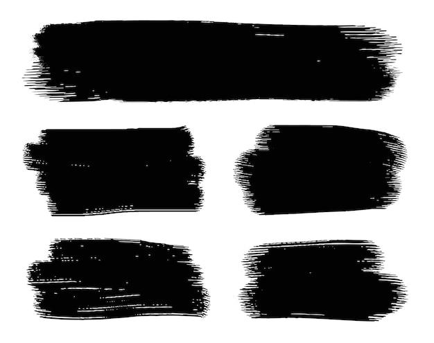 Traçados de pincel grunge preto abstrato