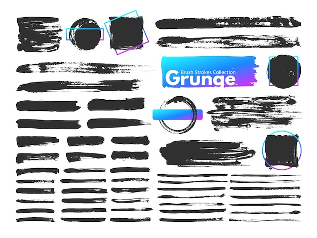 Traçados de pincel grunge