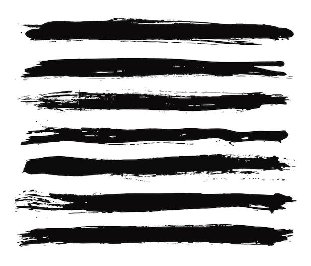 Traçados de pincel preto grunge