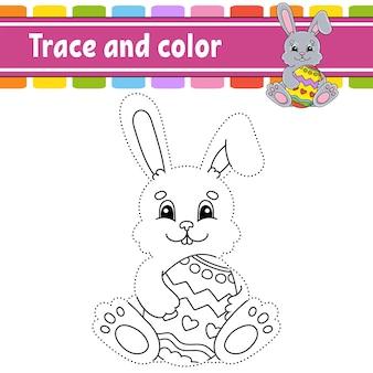 Traçar e colorir o tema da páscoa