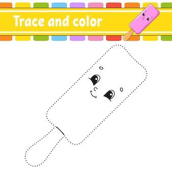 Traçar e colorir página para crianças