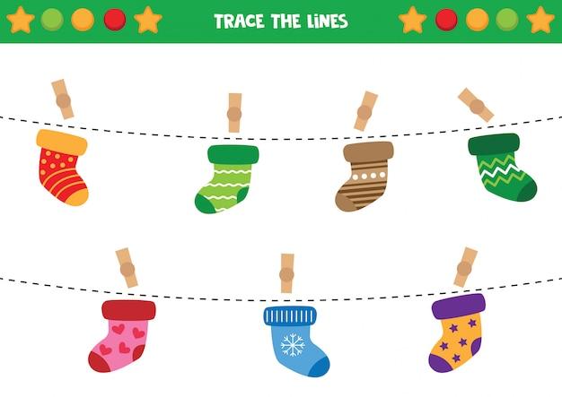Trace as cordas com meias.