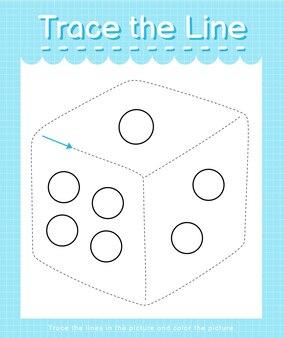 Trace o traço da linha seguindo as linhas tracejadas e pinte a imagem dic