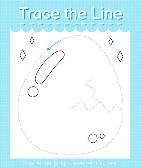Trace o traço da linha seguindo as linhas tracejadas e pinte a imagem, por exemplo