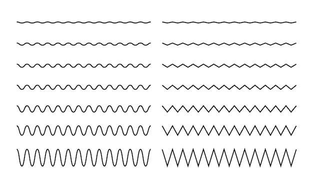 Traço de linha ondulada em zigue-zague
