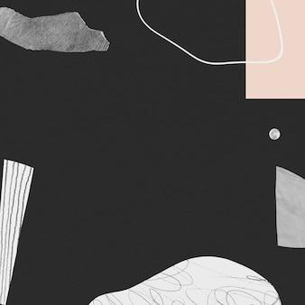 Traço de rabisco abstrato desenhado à mão e fundo de textura