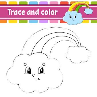 Traço e cor. página para colorir para crianças. dia de são patricio.
