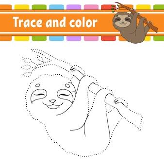 Traço e cor. página para colorir para crianças.