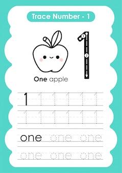 Traço número um - para crianças do jardim de infância e pré-escola