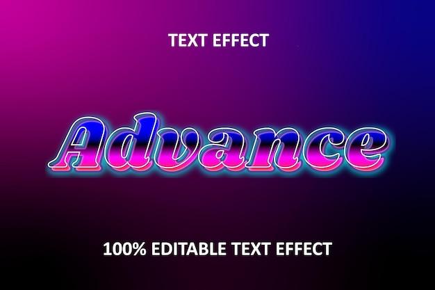 Traço roxo com efeito de texto editável