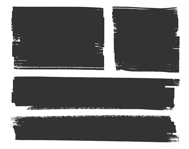Traços abstratos de grunge preto