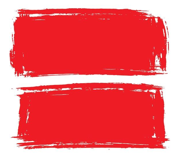 Traços abstratos de grunge vermelho