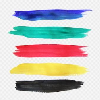 Traços de aquarela coloridos