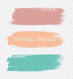 Traços de tinta de cor abstrata