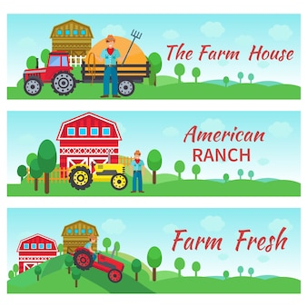 Tractor driver flat banners
