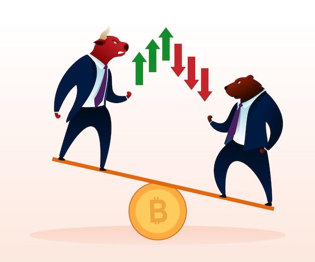 Trader animal conflict crypto moeda curso