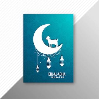 Tradicional eid al adha mubarak com design de brochura de cabra