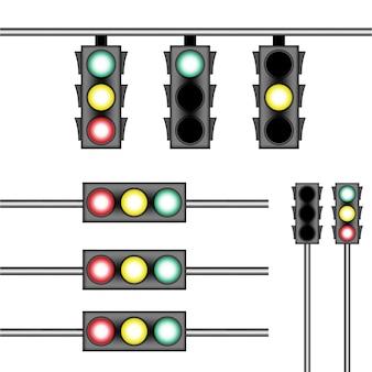 Tráfego de ilustração de modelo de luz de rua