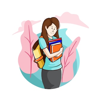 Traga livros didáticos para a escola