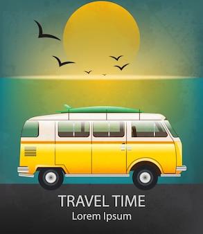 Trailer de acampamento de viagem de verão