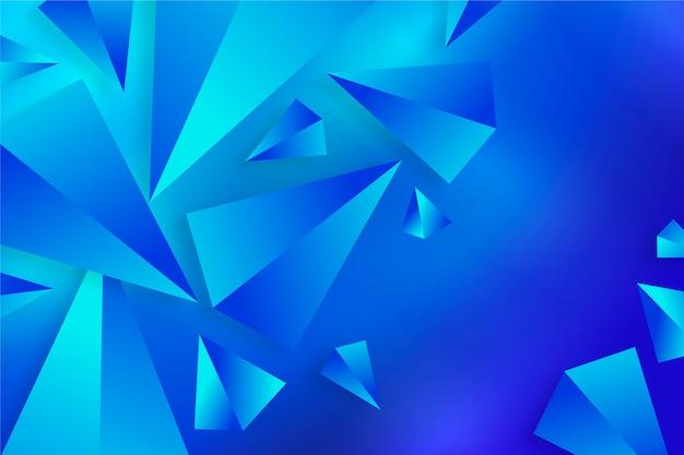 Traingle 3d papel de parede em cores vivas
