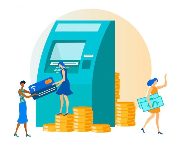 Transação de dinheiro via caixa eletrônico
