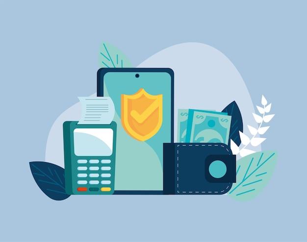 Transação móvel com smartphone