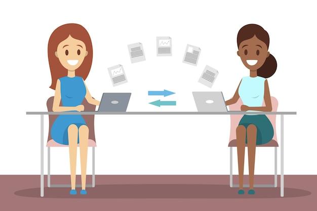 Transferência de arquivos entre laptops