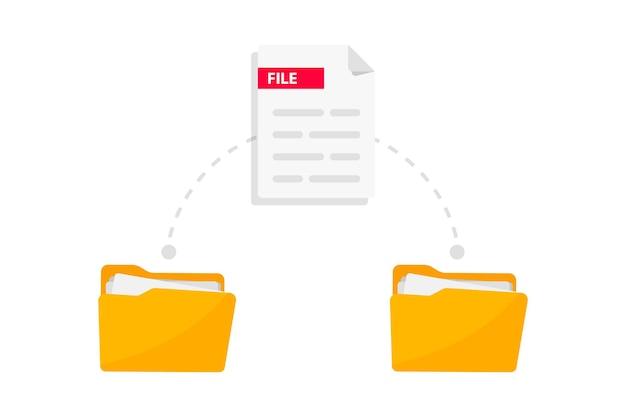 Transferência de arquivos troca de dados pastas com arquivos de papel transmissão de documentos carregamento remoto