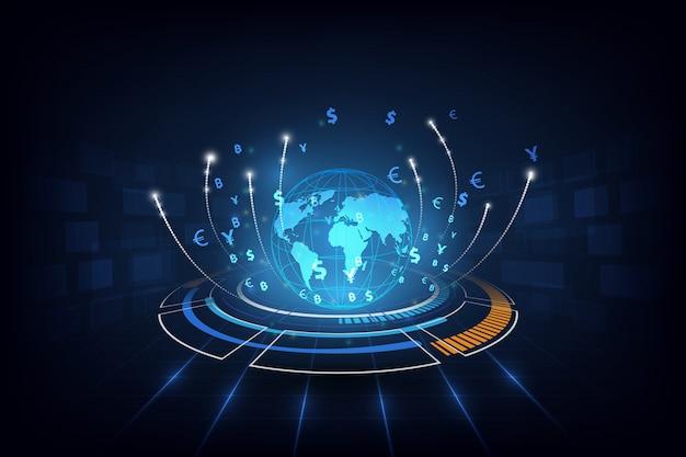 Transferência de dinheiro global currency stock exchange